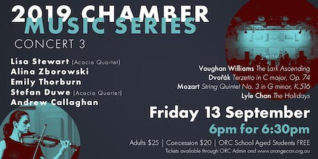 2019 Chamber Music Series - Concert 3 tickets