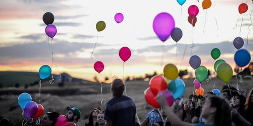 Balloon Release for El Paso Victims #LatinosUnidos