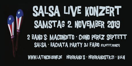 "Salsa Live Konzert - 2 Band´s: ""Macondito"" + ""Chino Perez Septett"" Tickets"