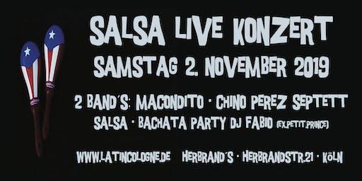"""Salsa Live Konzert - 2 Band´s: """"Macondito"""" + """"Chino Perez Septett"""""""