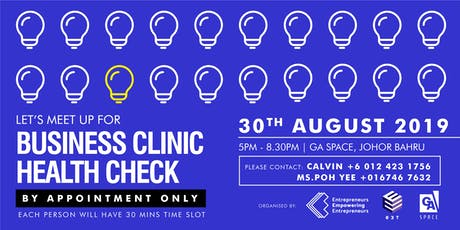 Business Clinic Health Check (AUG JB) tickets