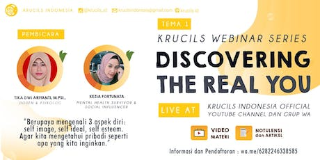 Krucils Webinar Series #1 : Discover The Real You [Paid Event] biglietti