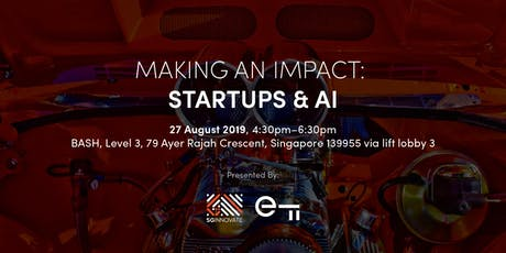 Making an Impact: Startups & AI tickets
