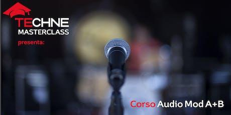 Corso Audio modulo A e B biglietti