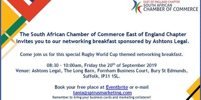 South African Chamber of Commerce - East of England Chapter September '19 networking breakfast