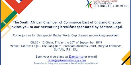 South African Chamber of Commerce - East of England Chapter September '19 networking breakfast tickets