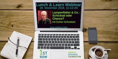 """Live-Webinar \""""Lampenfieber & Co.\"""" mit Esther Schweizer"""