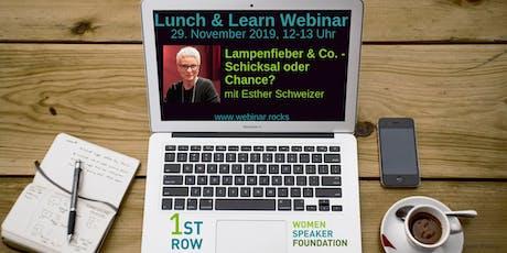 """Live-Webinar """"Lampenfieber & Co."""" mit Esther Schweizer Tickets"""