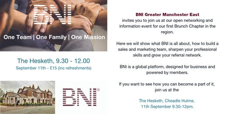 BNI Greater Manchester East does Brunch ! tickets