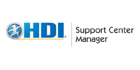 HDI Support Center Manager 3 Days Training in Toronto tickets