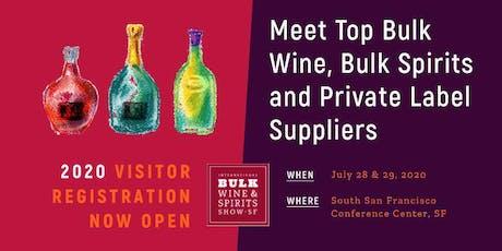 2020 International Bulk Wine and Spirits Show (Visitor Registration) tickets
