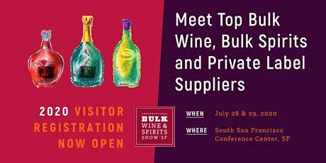 2020 International Bulk Wine and Spirits Show (Visitor Registration) tickets