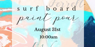 Paint Pour | Surf Board Decor
