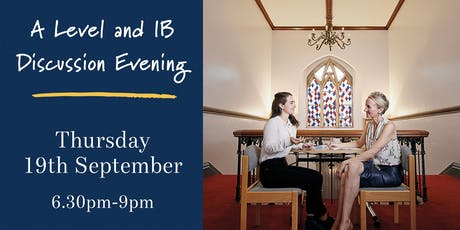 A Level and IB Discussion Evening tickets