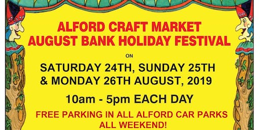 Alford August Bank Holiday Weekend Craft Market