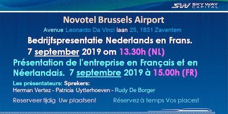 SkyWay Capital Bedrijfspresentatie Nederlandstalig tickets