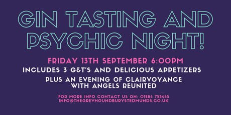 Gin Tasting and Psychic Night with Angels Reunited  tickets
