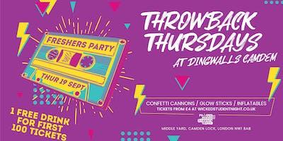 Throwback Thursdays Freshers at Dingwalls