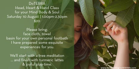Head, Hand, Heart | Mind, Body, Soul with doTERRA essential oils tickets