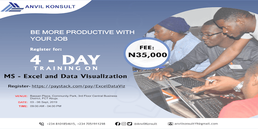 MASTERCLASS TRAINING ON EXCEL AND DATA VISUALIZATION