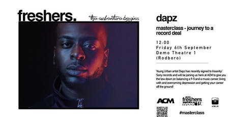 MASTERCLASS: Dapz - Journey To A Record Deal tickets