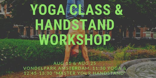 Yoga Class & Master Your Handstand Workshop
