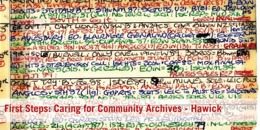 First Steps: Caring for Community Archives - Hawick