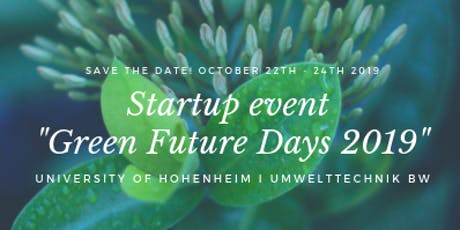 "Startup event ""Green Future Days 2019"" Tickets"
