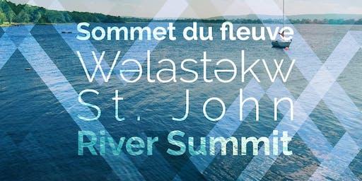 Sommet du fleuve Wəlastəkw/St. John River Summit 2019