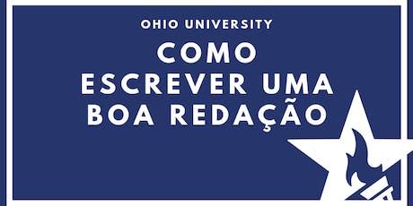 Como escrever uma boa redação com Ohio University ingressos