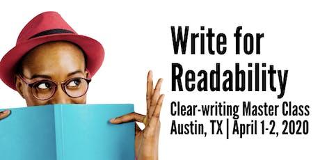 Write for Readability in Austin, TX tickets