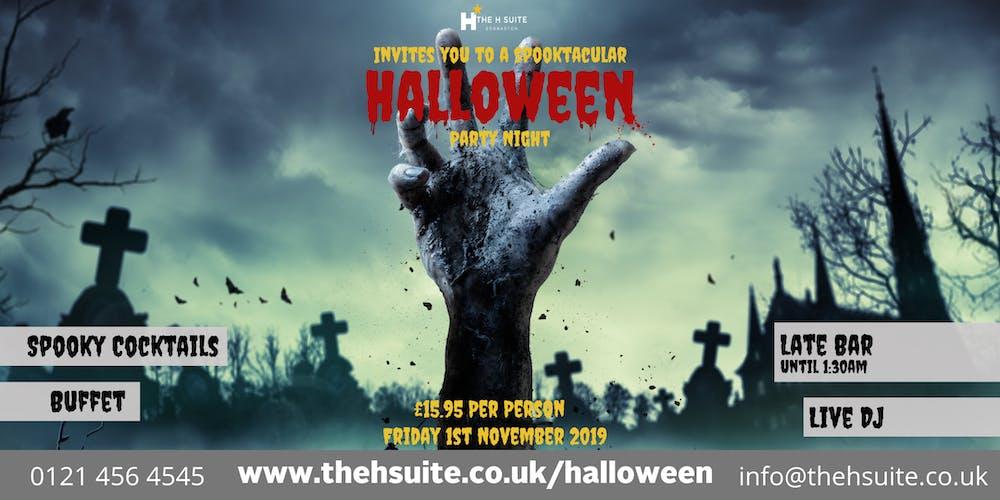 Halloween 1 November.Spooktacular Halloween Party Night 2019