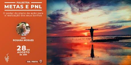Palestra: Metas e PNL - O poder do plano de ação para a realização dos seus sonhos  ingressos