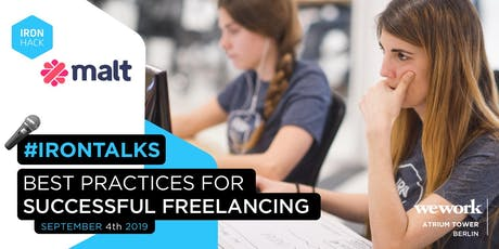 Ironhack x Malt - Best Practices for Successful Freelancing tickets