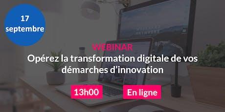 Webinar : Opérez la transformation digitale de vos démarches d'innovation billets