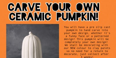 Ceramic Pumpkin Carving - Slip cast Workshop