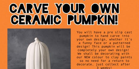 Ceramic Pumpkin Carving - Slip cast Workshop tickets