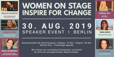 WOMEN ON STAGE INSPIRE FOR CHANGE Tickets