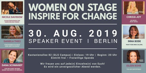 WOMEN ON STAGE INSPIRE FOR CHANGE
