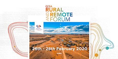 CCSA Rural & Remote Forum 2020 tickets