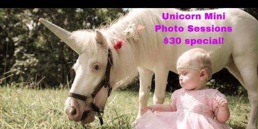 Unicorn & Baby Goat Mini Photo Sessions!