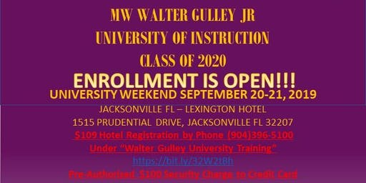 University of Instruction AA and BA Pt 1 Weekend - Sept 20-21