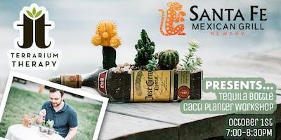 Tequila Bottle Cacti Planter
