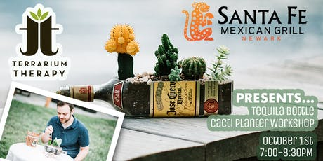 Tequila Bottle Cacti Planter tickets