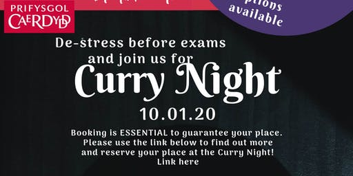 Pre exam curry night
