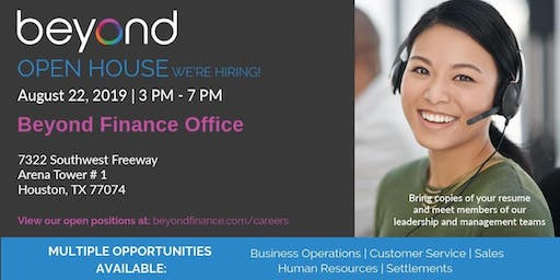 Beyond Finance | Open House
