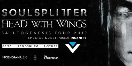 Salutogenesis Tour 2019 - Soulsplitter + Head With Wings + Visual Insanity Tickets
