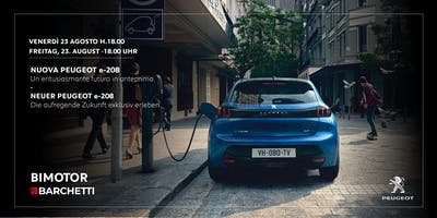 Anteprima Nuova Peugeot e-208  | Premiere Neuer Peugeot e-208