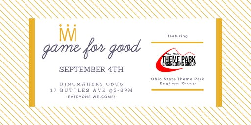 Game for Good: Theme Park Engineering Group OSU