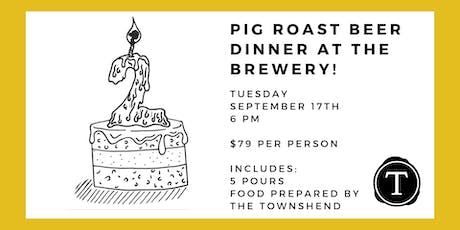 Widowmaker Brewing 2nd Anniversary Pig Roast Beer Dinner at the Brewery tickets